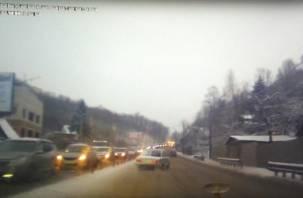 Лихач на «копейке» дрифтовал на Волоке в Смоленске