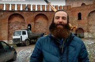 В Смоленске снова замуровали проход на крепость