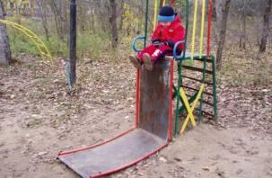В Заднепровском районе избавятся от «останков» детских каруселей