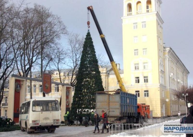 В Смоленске установят ёлку за два миллиона