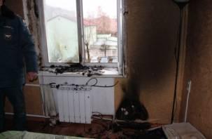 Вспыхнувшая зарядка стала причиной пожара в центре Смоленска