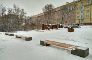 Сквер на улице Ногина в Смоленске открыт на всеобщее обозрение