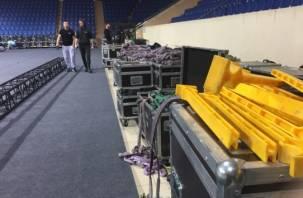 Группа ДДТ готовится к концерту в Смоленске: фоторепортаж backstage