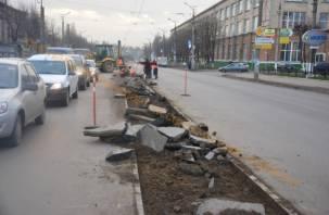 В Смоленске закрыто движение трамваев по улице Шевченко
