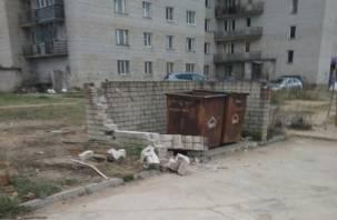 Жители Ярцева предложили «поставить свечку» за чистую мусорку