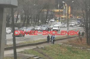 В Смоленске в сторону Медгородка собралась пробка
