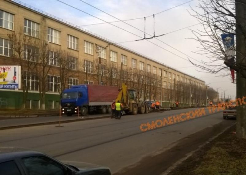 Ремонт улицы Шевченко в Смоленске завершен