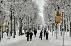 На Смоленщину обрушится сильный мокрый снег
