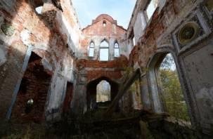 Московский телеканал рассказал, как на Смоленщине разрушается уникальный дворец