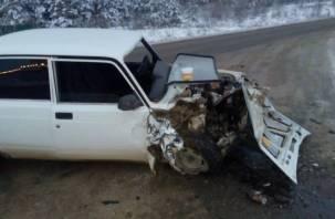 В массовой аварии под Смоленском пострадали пять человек