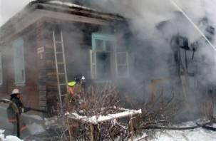 В Гагаринском районе заживо сгорели мужчина и женщина