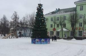 «Можно фантиков навешать»: жителей Ярцева рассмешила новогодняя елка