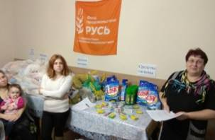 В Смоленске гуманитарную помощь вручили нуждающимся семьям