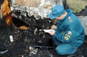 В доме, где сгорели два смолянина, уже бывали пожары