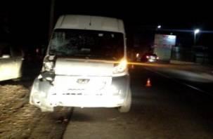 На Смоленщине водитель фургона сбил стоящего на дороге человека