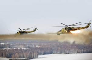Под Смоленском вертолеты уничтожили«террористов»