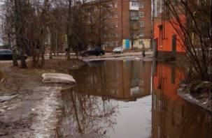 В центре Сафонова появилось холодное «море»