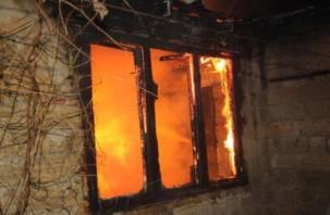 На Смоленщине пожар унес две человеческие жизни