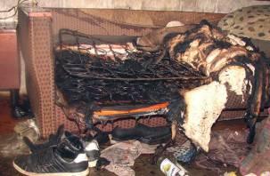 Смоленский курильщикедва не спалил свою квартиру