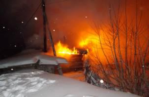 В Смоленском районе в горящем доме погиб человек