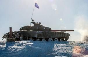 Смоленские танкисты готовятся к биатлону