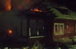 В Смоленской области мужчина погиб в горящем доме