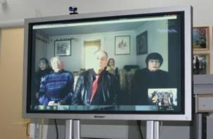 В Смоленске прошел уникальный телемост с канадским городом Торонто