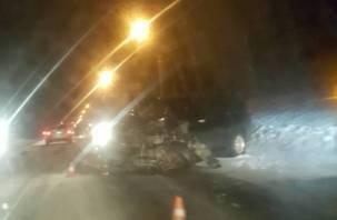 Жести: в Сети появились фото и видео аварии на Кутузова в Смоленске