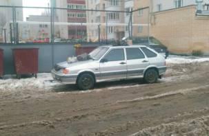В Смоленске жильцы микрорайона закидали автомобиль мусором