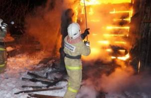 Мужчина и женщина заживо сгорели в доме под Смоленском