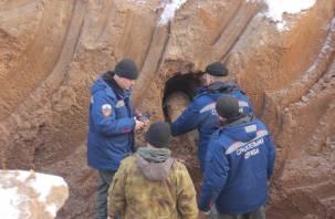 На строительной площадке в Смоленске обнаружена бомба