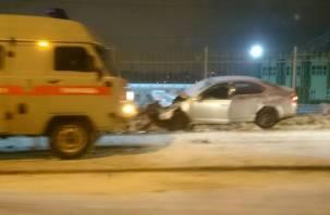 Подробности серьезного столкновения двух иномарок в Смоленске