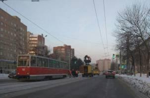 Из-за обрыва провода трамваи встали в Смоленске