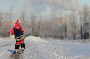 В смоленских школах могут отменить занятия из-за сильных морозов