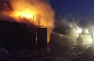 В Смоленской области вместе с гаражами сгорела иномарка