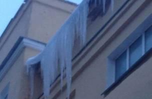 Федеральная газета сообщила об опасных сосульках на крыше смоленской школы