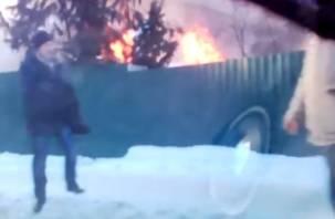 Страшный пожар на улице Кловской в Смоленске: в Сети появилось видео