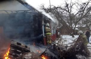 В Ярцеве пожарные спасли пожилого мужчину из горящего дома