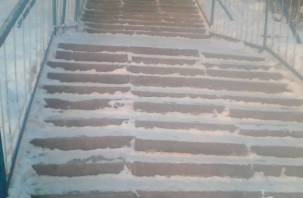Смолянка сломала руку после падения на скользкой уличной лестнице