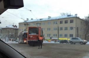 В Смоленске «боднулись» два трамвая