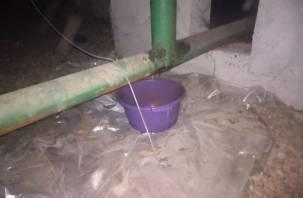 Квартиру пожилой смолянки заливает из-за протекающей крыши