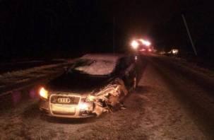 В Смоленской области столкнулись две иномарки. Есть пострадавший