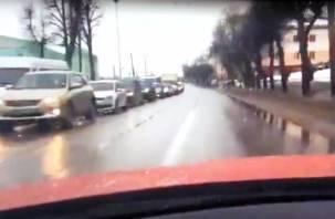 Мегапробка на Витебском шоссе в Смоленске попала на видео