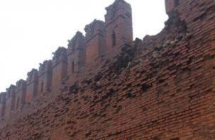 Подросток свалился со Смоленской крепостной стены