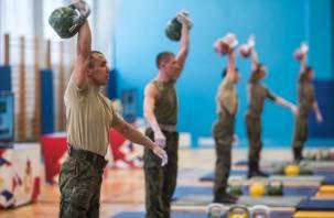 Чемпионат по армейскому гиревому рывку завершается в Смоленске