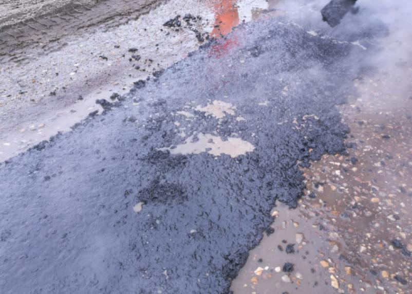 «Ярцевский след»: «инновационный» ремонт дороги в Вязьме попал на видео