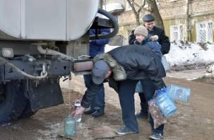 В понедельник в Смоленске на трех улицах отключат воду