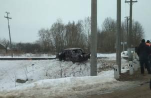 В Починковском районе водителя легковушки насмерть снес поезд