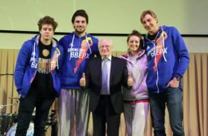 Актеры фильма «Движение вверх» провели вечер баскетбола в Смоленске