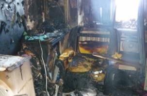 «Куда так топят». В Смоленской области огонь уничтожил каморку сторожа